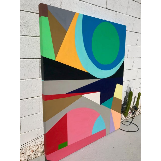 New large painting from my Palm Springs collection influence by late 60s California mid century style, culture and colors....