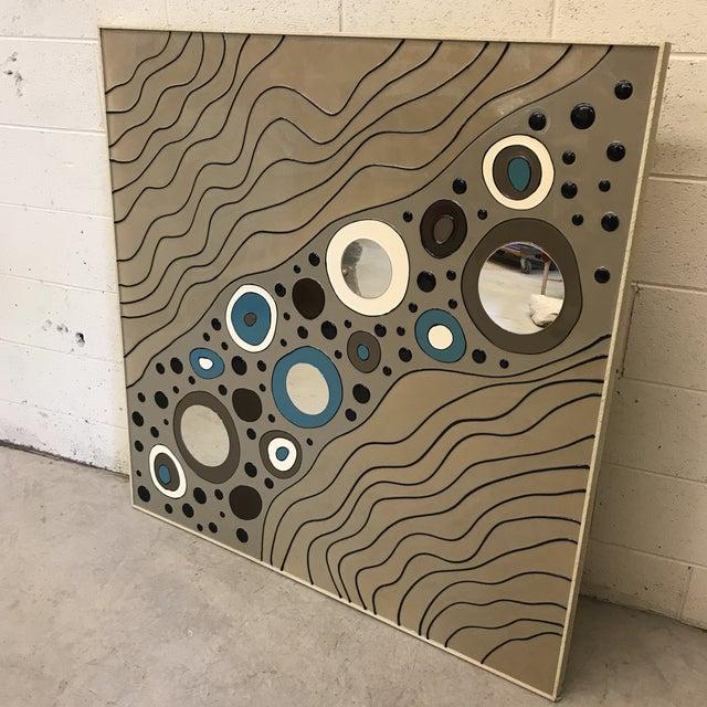 Modern Geometric Art on Board For Sale - Image 9 of 10