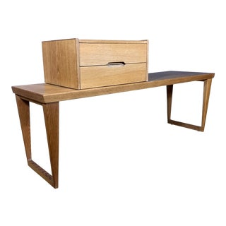 Oak Hall Table with 2 Drawer Cabinet by Kai Kristiansen for Aksel Kjersgaard, Denmark 1960s For Sale