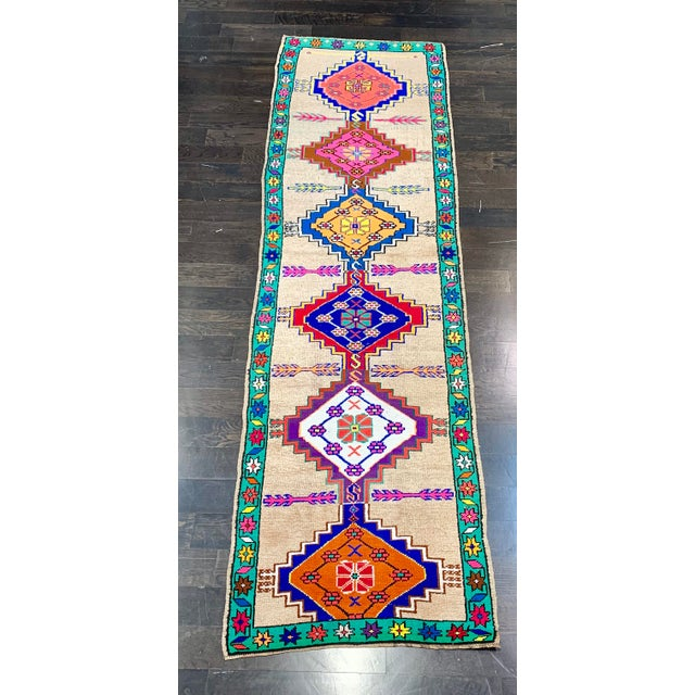 Contemporary Oushak Runner Rug - 2′11″ × 10′5″ For Sale - Image 13 of 13