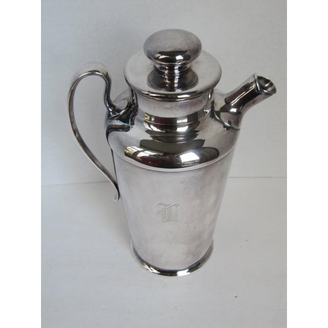 """Art Deco Drink Pitcher with Initial """"D"""" For Sale - Image 5 of 11"""