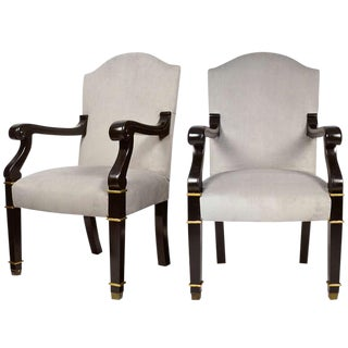 French Restauration Armchairs- A Pair