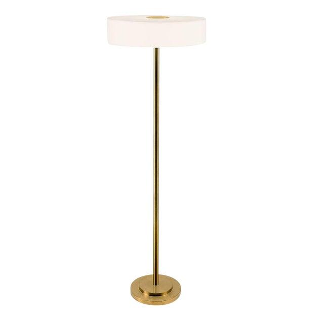 Richmond Brushed Brass Floor Light For Sale