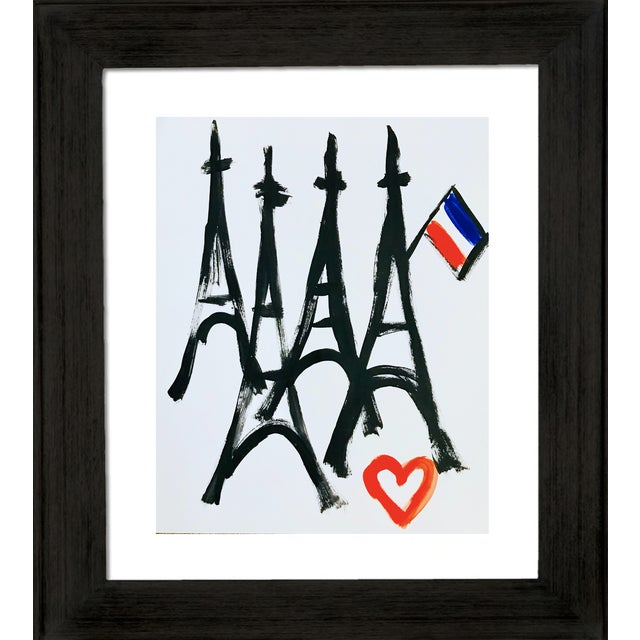 From my Pop Art collection Paris Love. Painted on gallery paper. A great way to remember your favorite city. Unframed.
