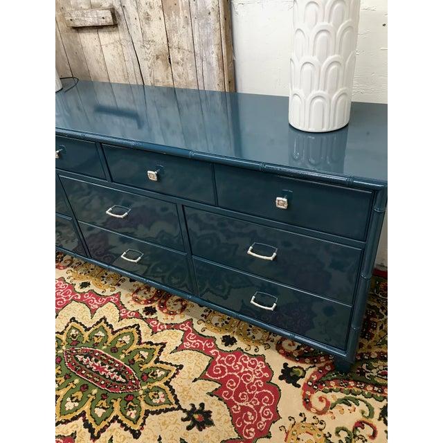 Blue Dresser | High Gloss Blue Dresser - Image 6 of 9