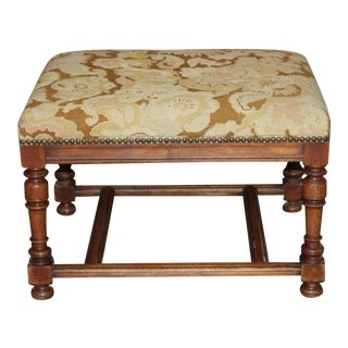19th Century French Walnut Bench For Sale