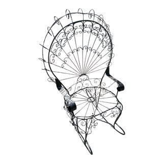 Wrought Iron Peacock Rocker For Sale