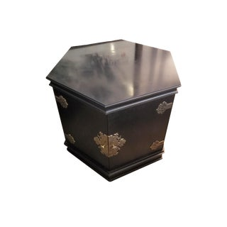 Century Black Hexagonal Side Cabinet