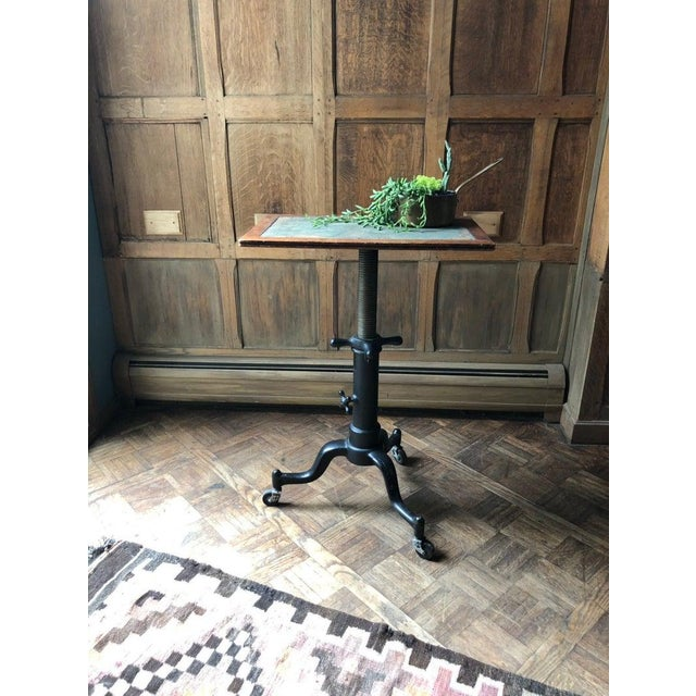 Antique Drafting Table, Adjustable Artist Table, Industrial Desk, Cast Iron Table, Drawing Table, Vintage Side Table...