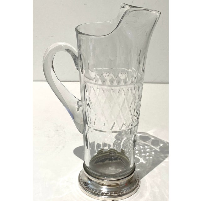 Vintage Glass and Sterling Pitcher For Sale - Image 4 of 10