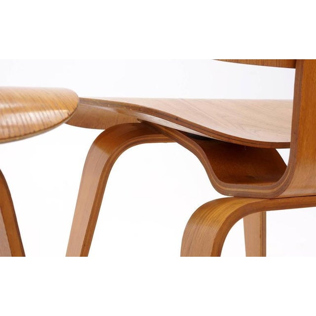Set of Four Vintage Eames DCWS Add Our Red Eames Dining Chairs to Make Six For Sale - Image 9 of 10