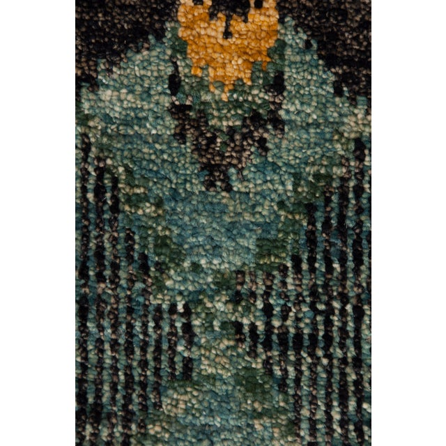 """New Ikat Hand Knotted Area Rug - 10' x 13'8"""" - Image 3 of 3"""