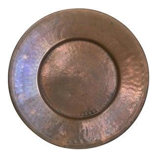 Vintage Hand Hammered Copper Plate