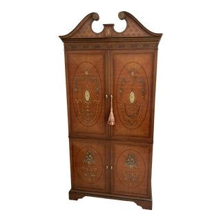1990s Traditional Wooden Armoire/Entertainment Unit For Sale