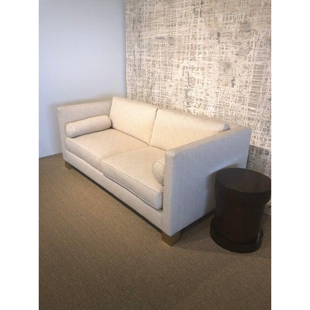 White Scalamandre Upholstered Sofa For Sale - Image 4 of 11