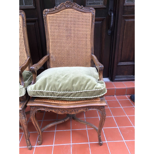 French French Caned Chairs - a Pair For Sale - Image 3 of 12
