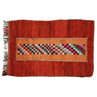 Vintage Moroccan Berber Checkerboard Rug - 4′1″ × 6′ For Sale