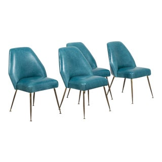 Set of Four Campanula Chairs by Carlo Pagani for Arflex 1952 For Sale