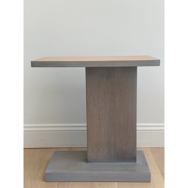 1980s Architectural Modern Side Table For Sale - Image 5 of 12