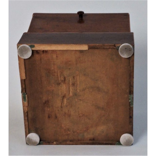 Circa 1820 English Georgian Style Mahogany and Satinwood Casket For Sale - Image 12 of 12