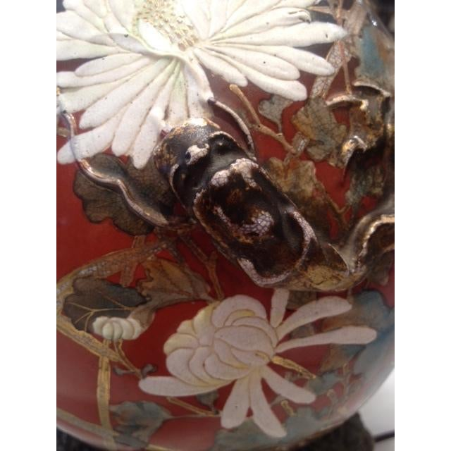 Vintage Asian Hand Painted Ceramic Gord Lamp - Image 3 of 11