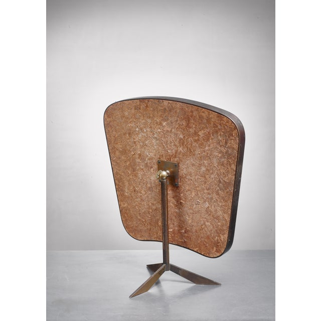 Mid-Century Modern Brass Console Mirror on Tripod Foot, Germany, 1950s For Sale - Image 3 of 4