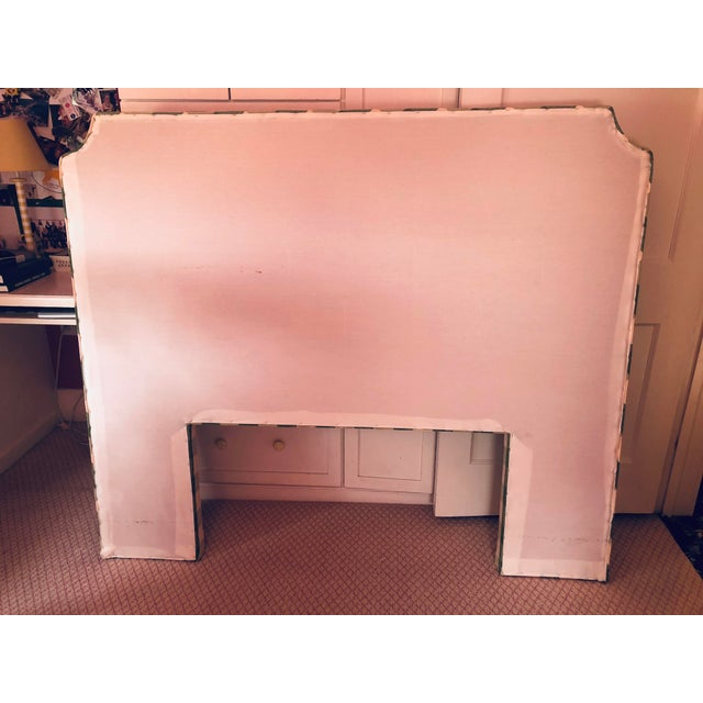 Country Country Style Upholstered Queen Headboard For Sale - Image 3 of 6
