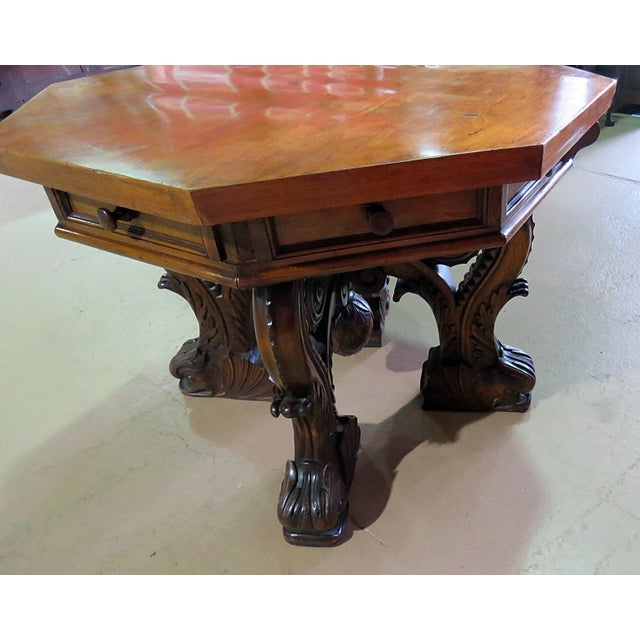 Renaissance Style Center Table For Sale - Image 4 of 7