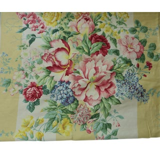Travers Linen Fabric Carnavalet in Pink & Gold Yards- 2 1/2 For Sale