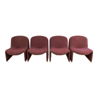 1970s Vintage Giancarlo Piretti for Castelli Alky Chairs- 4 Pieces For Sale