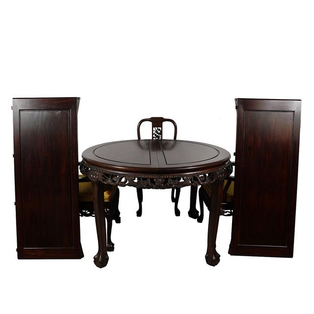 20th Century Chinese Carved Rosewood Dragon Dining Set For Sale - Image 12 of 13