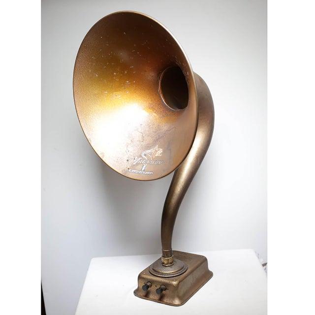 Gold 1920s Magnavox Metal Speaker Horn For Sale - Image 8 of 8