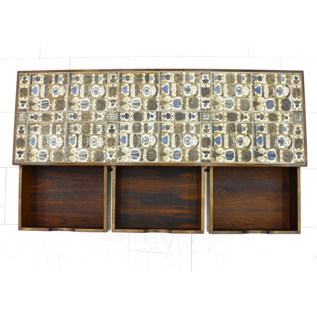 Severin Hansen Cabinet, Console With Ceramic Top, Haslev Denmark For Sale - Image 6 of 11