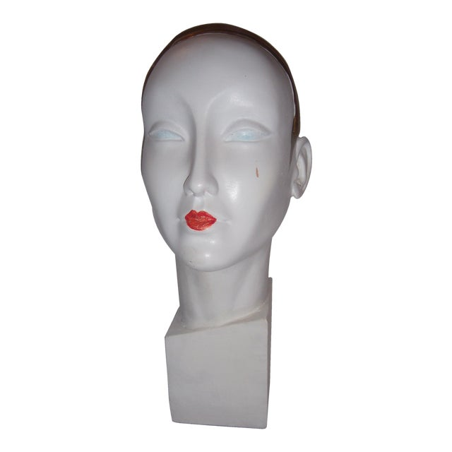 Art Deco Style Mannequin Head For Sale