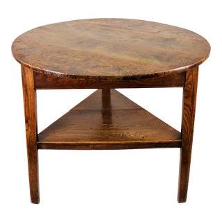 Circa 1780 English Walnut Cricket Table For Sale