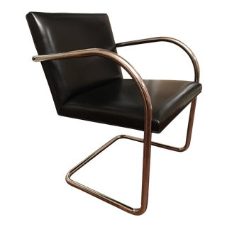 Brno Chair Mies van der Rohe for Knoll Chrome Black Leather