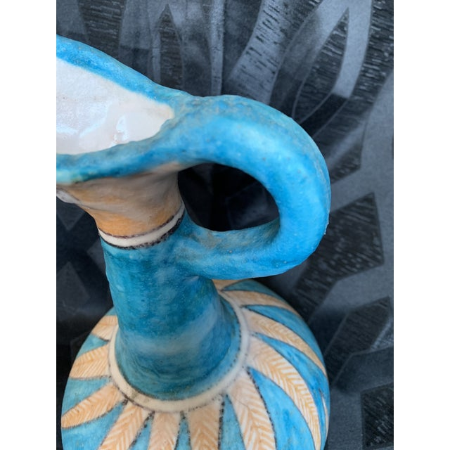 1950s 1950s Guido Gambone for Vietri Italian Pottery Toucan Pitcher Vase For Sale - Image 5 of 13