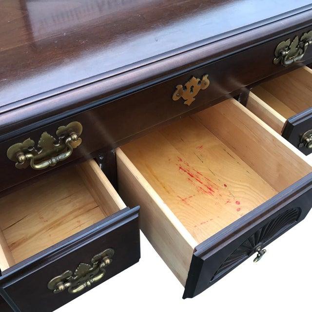 Harden Furniture Vintage Harden Queen Anne Cherry Buffet Server For Sale - Image 4 of 5