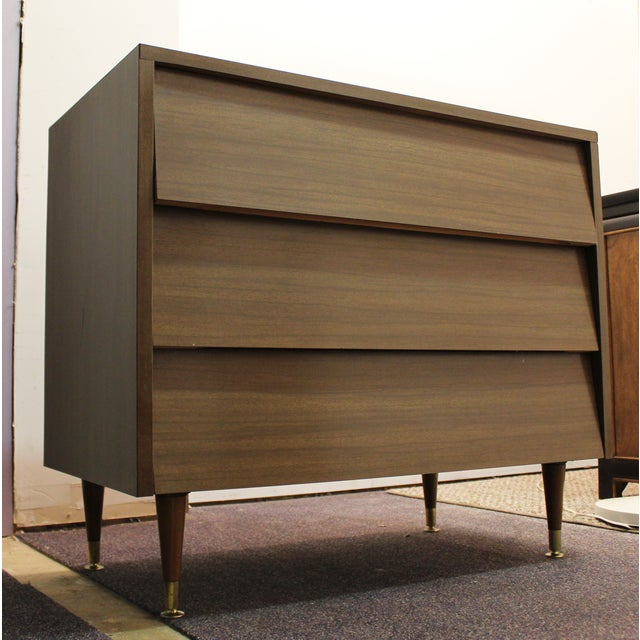 Mid-Century Modern Louvre-Front Bachelor Chest - Image 2 of 9