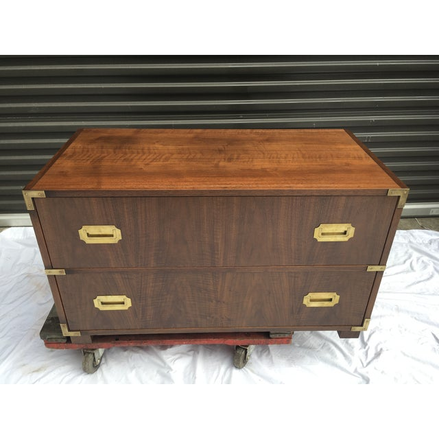 Baker Furniture Low Campaign Chest For Sale - Image 9 of 12