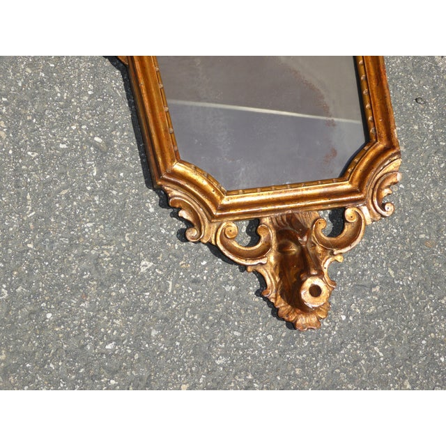 Antique Italian Rococo Giltwood Wall Mirror - Image 7 of 11