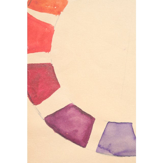Watercolor Color Wheel by Kathryn Bernard For Sale - Image 4 of 5