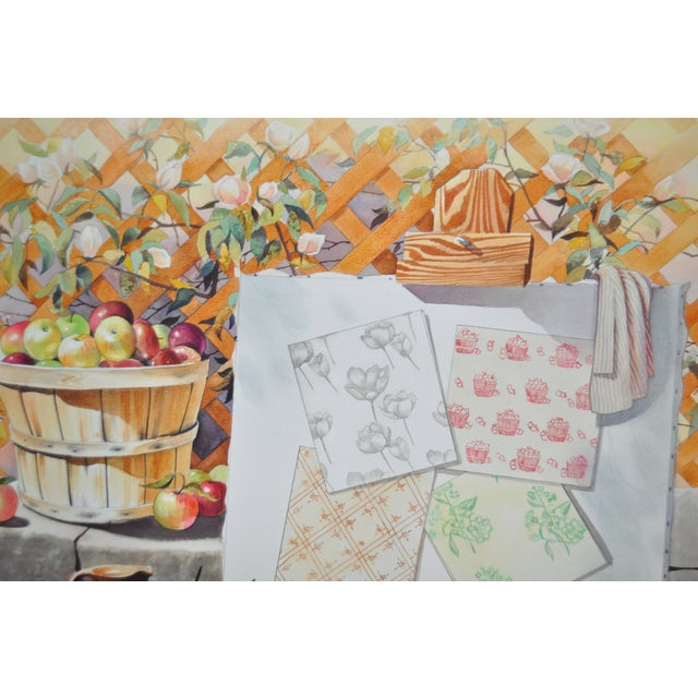 Mid-Century Modern Original Still Life Watercolor For Sale In San Francisco - Image 6 of 8