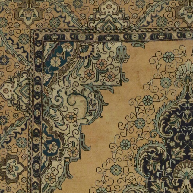 Vintage Persian Tabriz Rug With Neoclassical Glamour, 9'10 X 11'2 - Image 6 of 6