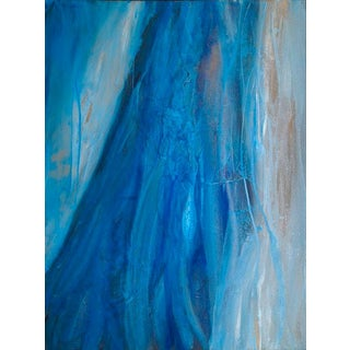 Teodora Guererra, 'Blue Chiffon' Painting, 2016 For Sale