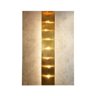 Pepite Gold Wall Light by Christine Rouviere For Sale