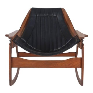 Jerry Johnson Sculptural Walnut Bentwood Rocking Chair For Sale