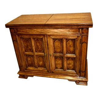 Vintage Thomasville Transitional Style Flip Top Server/Cabinet For Sale