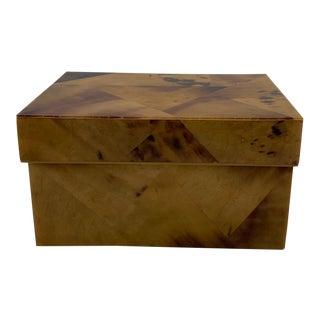 R & Y Augousti London Faux Tortoise Box For Sale