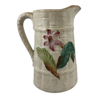 Floral Majolica Pitcher